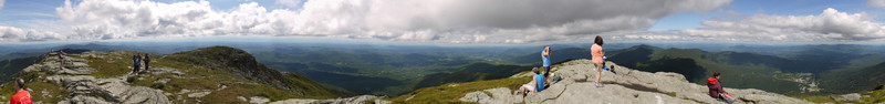 360-degree panorama from the summit, Mt. Mansfield, Chittenden County, Vermont