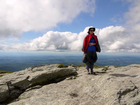Batya at the summit, Mt. Mansfield, Chittenden County, Vermont