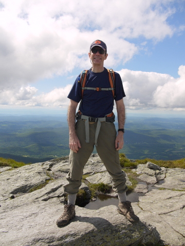 Charlie at the summit, Mt. Mansfield, Chittenden County, Vermont