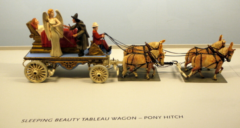 Sleeping Beauty Tableau Wagon in Roy Arnold's Miniature Parade, Shelburne Museum, Shelburne, Chittenden County, Vermont