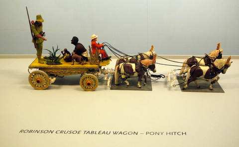 Robinson Crusoe Tableau Wagon in Roy Arnold's Miniature Parade, Shelburne Museum, Shelburne, Chittenden County, Vermont