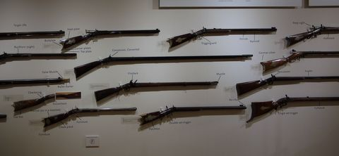 Firearm collection, Shelburne Museum, Shelburne, Chittenden County, Vermont