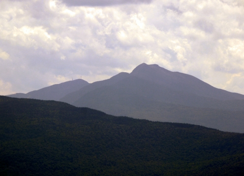 Mount Mansfield from Laraway Lookout, Laraway Mountain, Long Trail State Forest, Lamoille County, Vermont