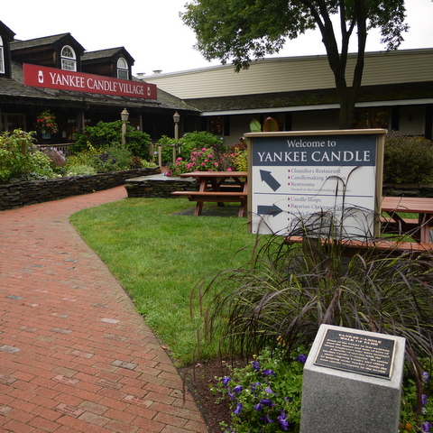 Exterior of Yankee Candle Factory, South Deerfield, Massachusetts