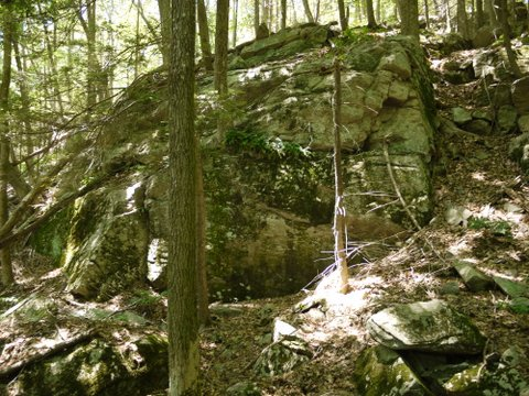 Rock outcrop, Trout Brook Valley State Park Preserve, Fairfield County, Connecticut