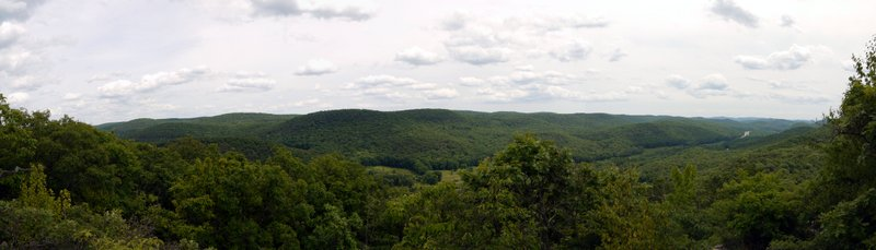 Stitched Panorama from Appalachian Trail, Harriman State Park, Orange County, New York