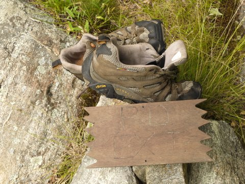 Lost boots, Harriman State Park, Orange County, New York