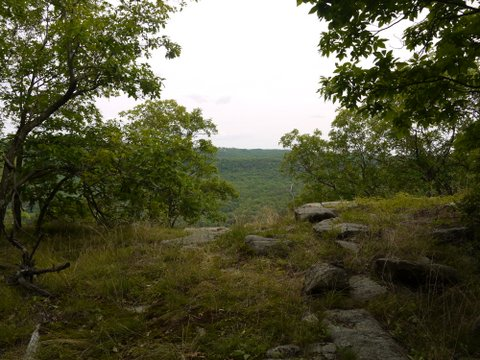 Scenic view from Indian Hill Loop, Sterling Forest State Park, Orange County, New York