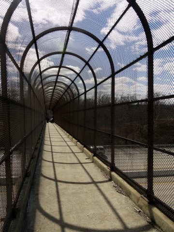 Pedestrian walkway over I-287, Ramapo Mountain State Park, Bergen & Passaic Counties, New Jersey