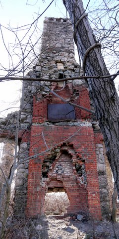 Chimney of Slyke Castle, Ramapo Mountain State Park, Bergen & Passaic Counties, New Jersey