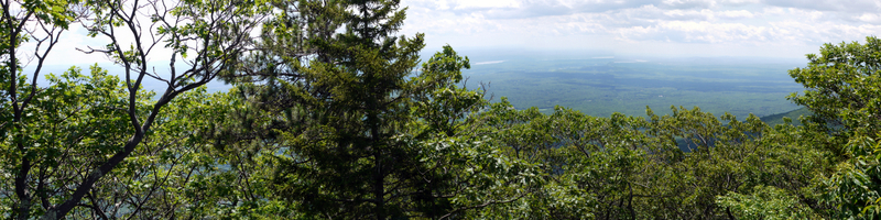 Panorama of Hudson River Valley, Kaaterskill Wild Forest, Greene County, New York
