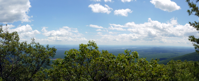 Panorama from Boulder Rock, Kaaterskill Wild Forest, Greene County, New York