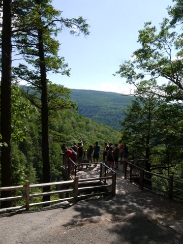 Observation Deck of Kaaterskill Falls, Kaaterskill Wild Forest, Greene County, New York