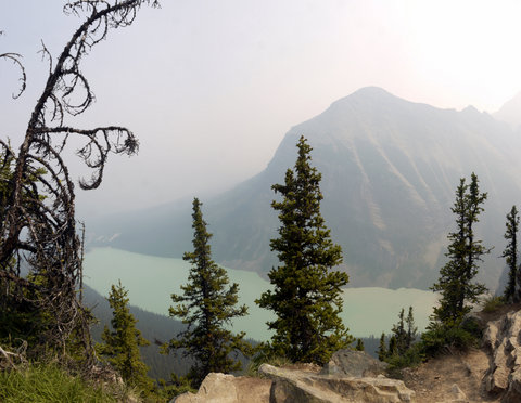 Lake Louise, from the top of the Big Beehive, Banff National Park, Alberta, Canada