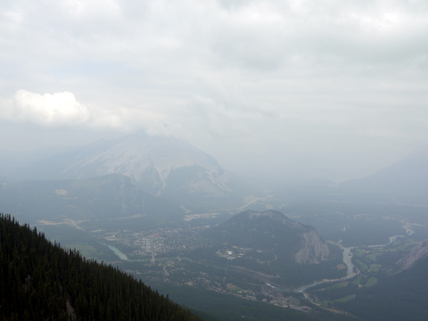 Town of Banff and Tunnel Mountain, Banff National Park, Alberta, Canada