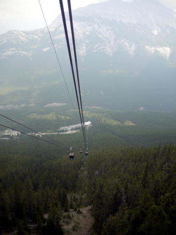 View from the gondola on Sulphur Mountain, Banff National Park, Alberta, Canada